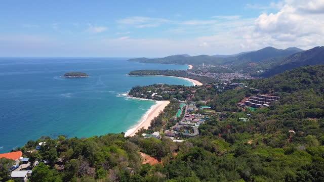 phuket beach sea, view of beach sea on sun light in the summer. - coastline stock videos & royalty-free footage