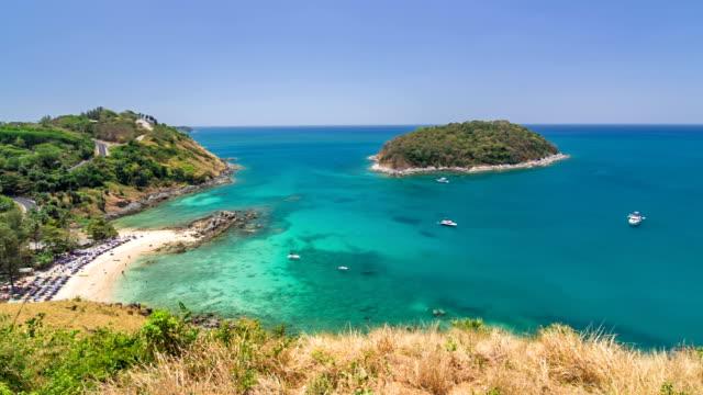 vídeos de stock, filmes e b-roll de phuket island view do ponto de vista, foto em movimento - ponto de observação