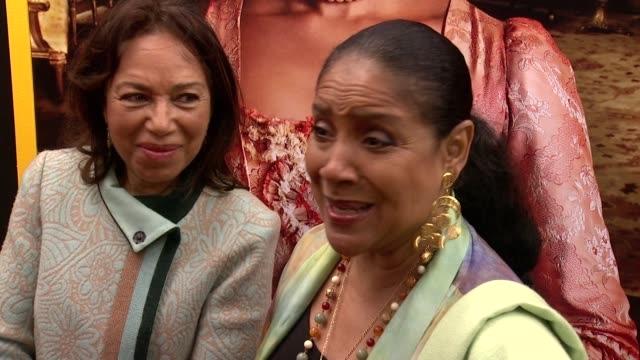"""phylicia rashad talks about the depth of the film and the various dimension of the storyline at """"belle"""" new york premiere arrivals at the paris... - paris theater manhattan stock videos and b-roll footage"""
