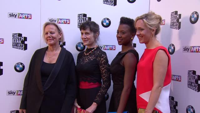 Phyllida Lloyd Harriet Walter Jade Anouka and Kate Pakenham posing on red carpet Sky Arts Awards Honouring Best of Theatre Film Music and Art take...