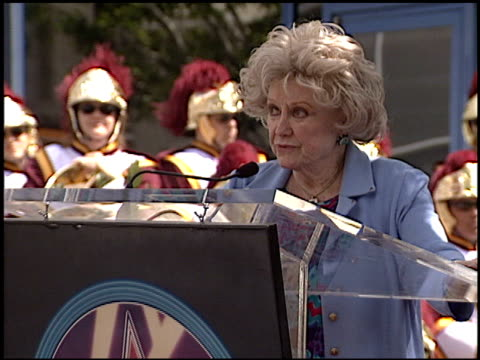 phyllis diller at the bob hope honored with hollywood walk of fame plaque at hollywood boulevard in hollywood, california on april 15, 2003. - フィリス ディラー点の映像素材/bロール