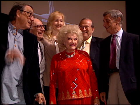 phyllis diller at the bob hope tribute at tv academy theater in north hollywood, california on may 30, 1996. - フィリス ディラー点の映像素材/bロール