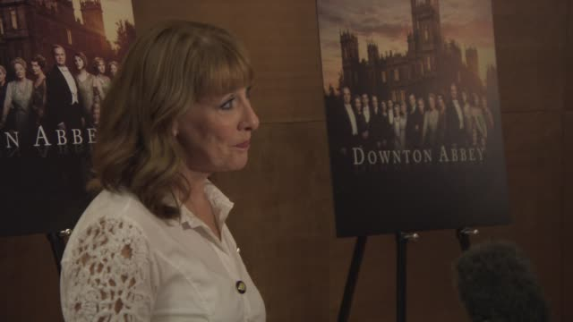 Phyllis Logan at Downton Abbey press screening at The Mayfair Hotel on August 13 2015 in London England