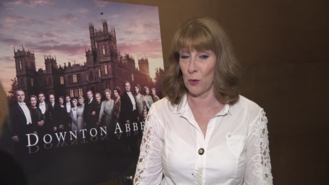 INTERVIEWS Phyllis Logan on who cried family feeling on set public feeling towards Downton being big in America Downton film past cast at Downton...