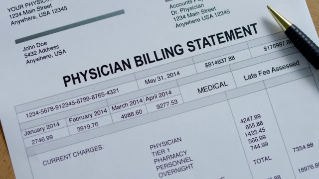 physician medical past due bill - beak stock videos & royalty-free footage