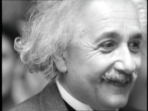 Physicist Albert Einstein poses for a portrait