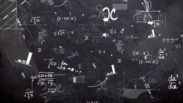 4k physics chalkboard (loopable) - mathematics stock videos and b-roll footage