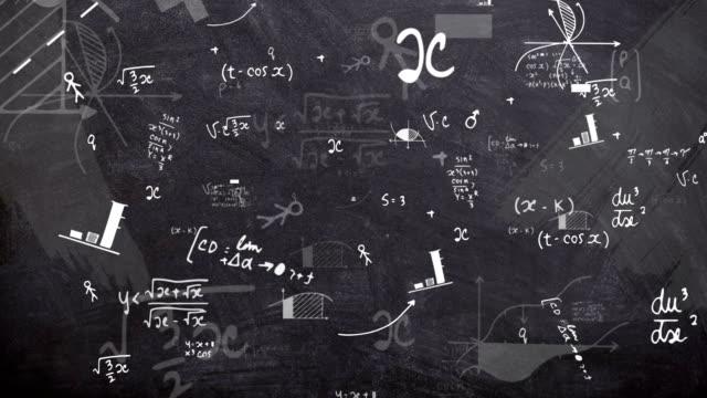 4 k 物理黒板 (単発) - 計算点の映像素材/bロール