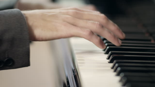 pianist composing music - musical symbol stock videos & royalty-free footage
