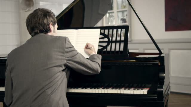 pianist composing music - composer stock videos & royalty-free footage