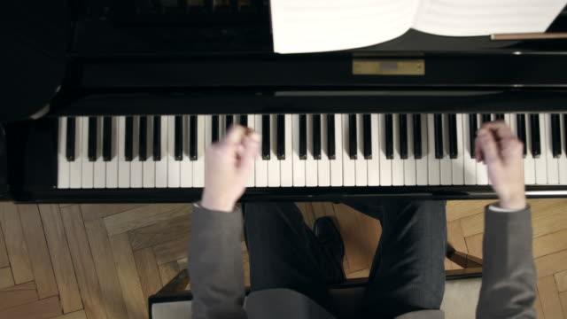 ピアノ音楽のリズム - ピアノ点の映像素材/bロール