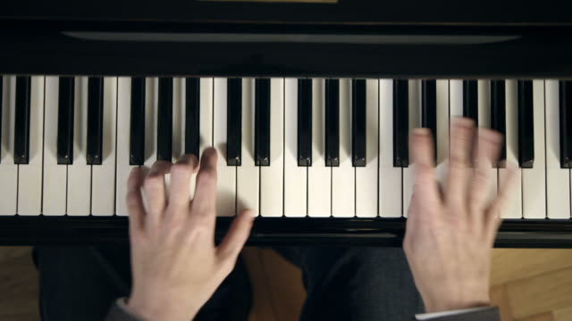 pianist composing music - piano stock videos and b-roll footage