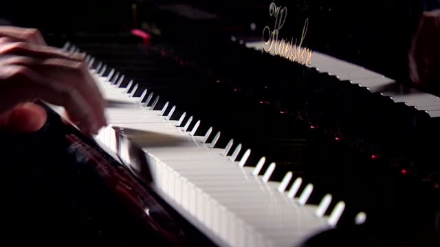 pianist hands on piano keyboard - piano key stock videos & royalty-free footage