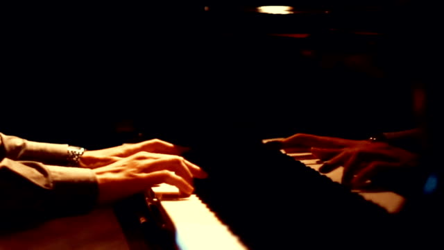 pianist in a concert. - concert hall stock videos and b-roll footage