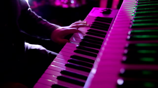 pianist in a night club - synthesizer stock videos & royalty-free footage