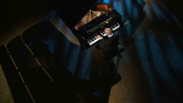 hd crane: pianist playing in a concert hall - pianist stock videos & royalty-free footage