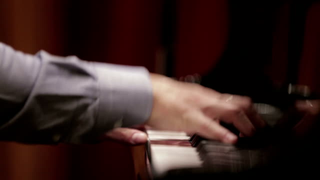 pianist's hands performing piano concert - human finger stock videos and b-roll footage