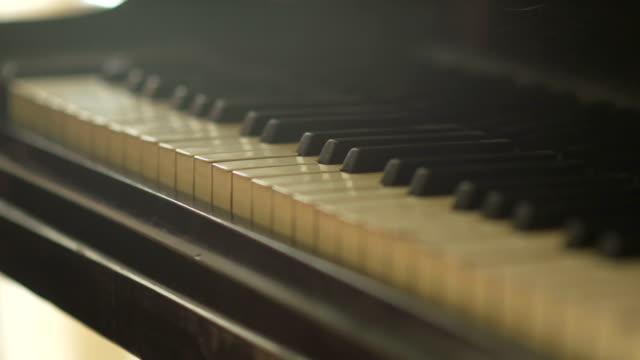 piano close up shot