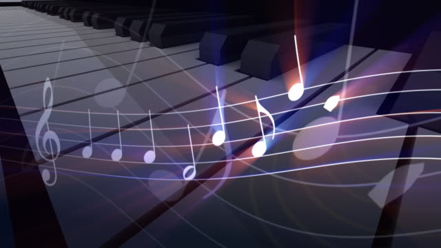 piano feel the music - treble clef stock videos & royalty-free footage