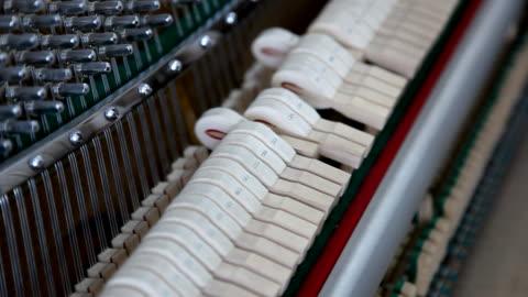 vídeos y material grabado en eventos de stock de martillo de piano de acción - cuerda