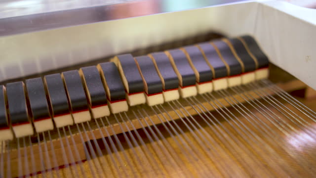piano hammers and strings - musical instrument string stock videos & royalty-free footage
