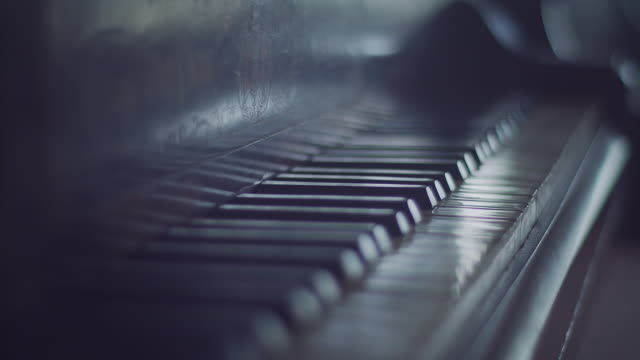 piano keyboard close up - piano stock videos and b-roll footage