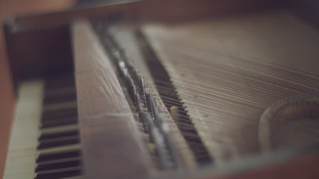 piano keyboard close up - piano key stock videos and b-roll footage