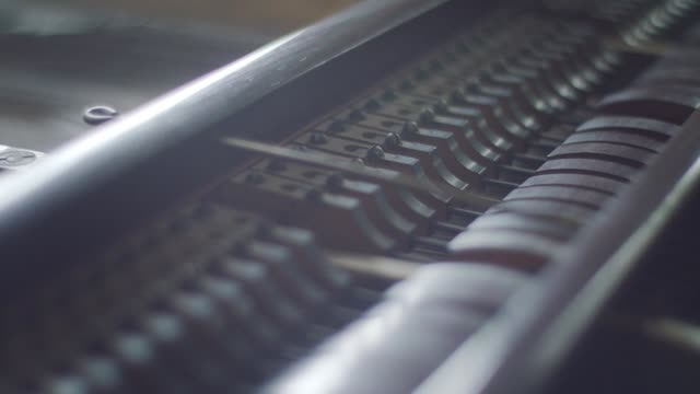 piano keyboard close up - musical instrument string stock videos and b-roll footage