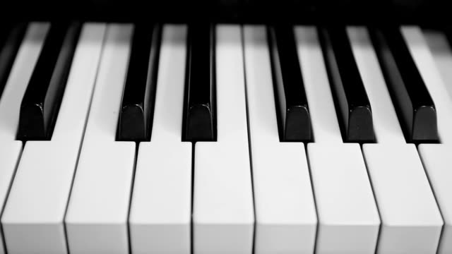 piano keyboard - independent playing - piano key stock videos & royalty-free footage