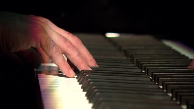 piano keyboard playing - piano key stock videos & royalty-free footage