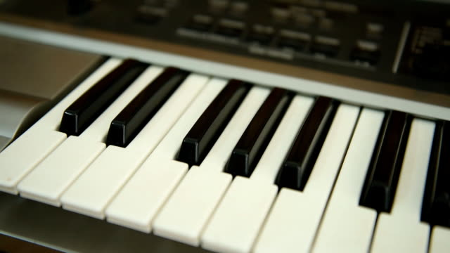 piano keyboard - full hd format stock videos & royalty-free footage