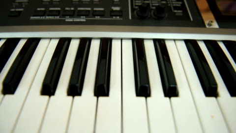 piano keyboard - full hd format bildbanksvideor och videomaterial från bakom kulisserna