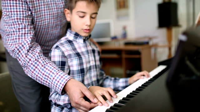 piano lesson - art class stock videos & royalty-free footage