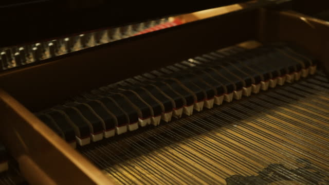 piano mechanics inside hammers strings - hammer stock videos and b-roll footage