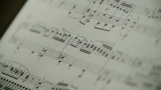 spartito musicale pianoforte - sheet music stock videos & royalty-free footage