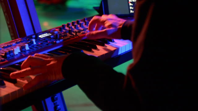 piano player - synthesizer stock videos & royalty-free footage