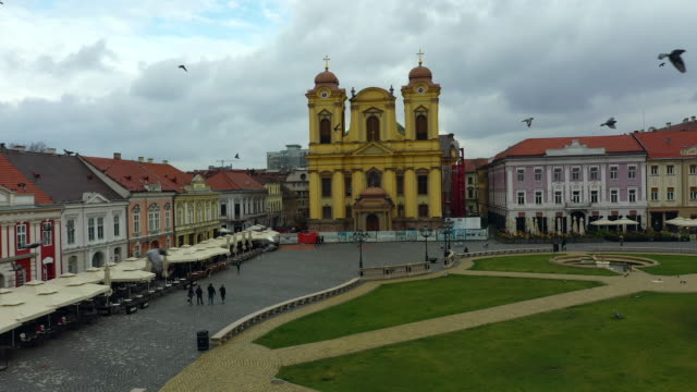 piaya unirii in timisoara - romania stock videos & royalty-free footage