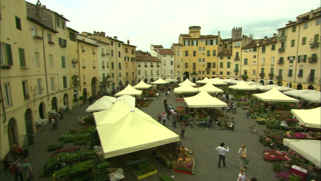 Piazza Anfiteatro Market, Lucca, Italy