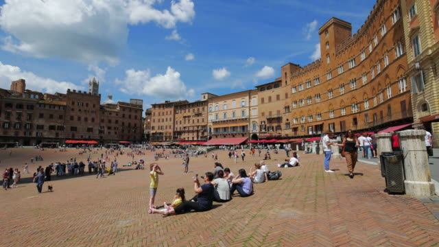 piazza del campo in siena, tuscany, italy - piazza del campo stock videos and b-roll footage