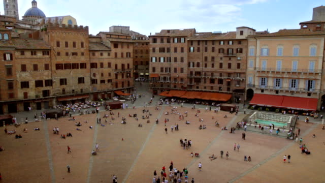 piazza del campo, siena, italy. hd - siena italy stock videos and b-roll footage