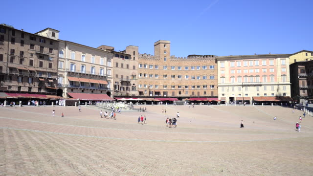 piazza del campo, siena, tuscany, italy - piazza del campo stock videos and b-roll footage