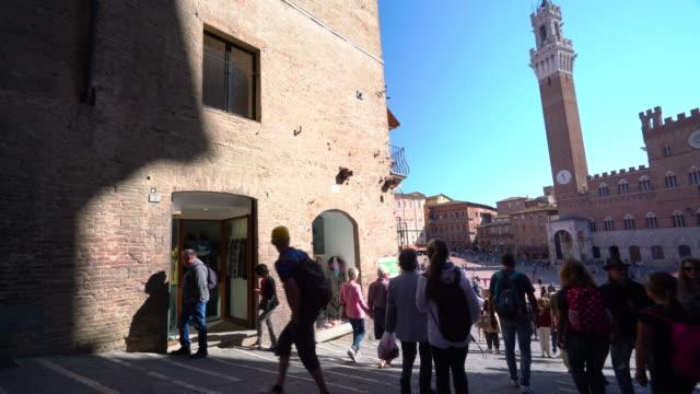 piazza del campo - siena - campo stock videos & royalty-free footage