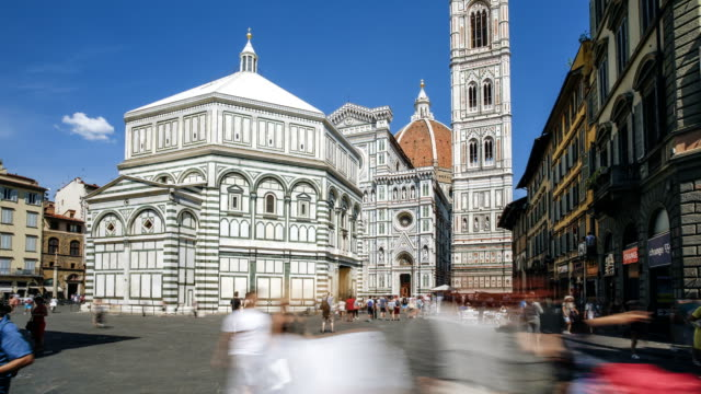 piazza del duomo, florence - florence italy stock videos and b-roll footage