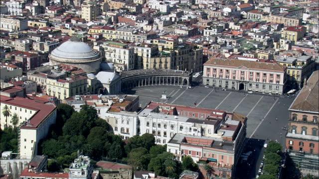 プレビシート広場-航空写真-カンパニア、naples,italy - ナポリ点の映像素材/bロール