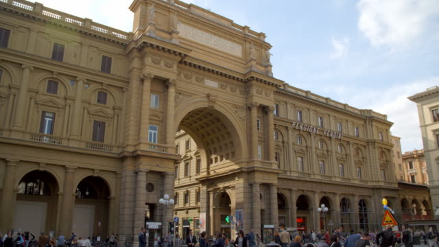 piazza della repubblica / florence, italy - florence stock videos and b-roll footage