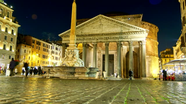 piazza della rotonda time lapse video - rome - pantheon rome stock videos and b-roll footage