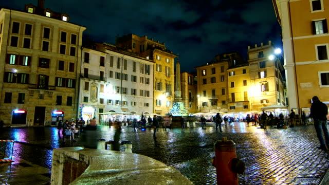 Piazza della Rotonda time lapse video - Rome