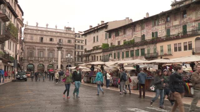 Piazza dell'Erbe, Verona, Italy