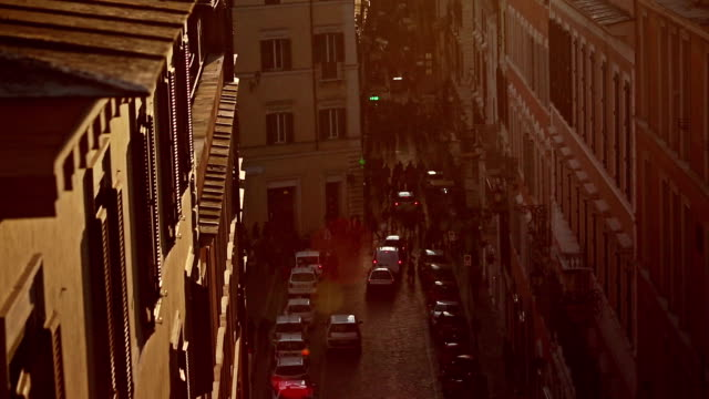 piazza di spagna and rome domes from pincio hill - international landmark stock videos & royalty-free footage
