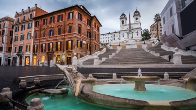 Piazza di Spagna with Spanish Steps in Rome, Italy